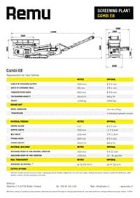 Remu Combi E8 Brochure
