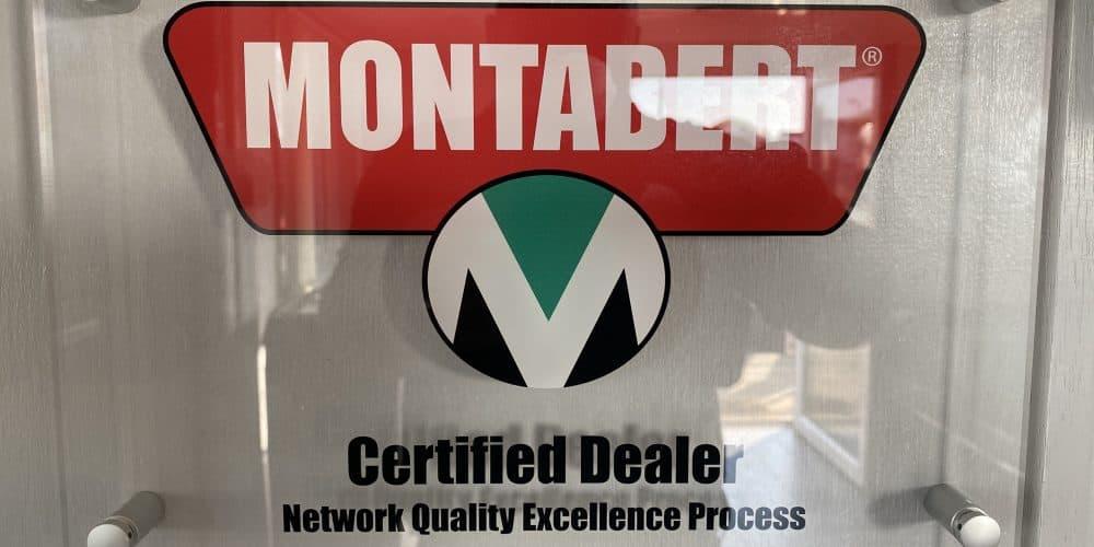 Montabert dealer plaque