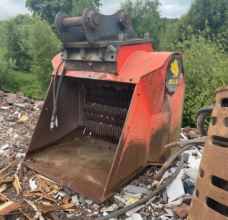 Used ALLU Screening Bucket